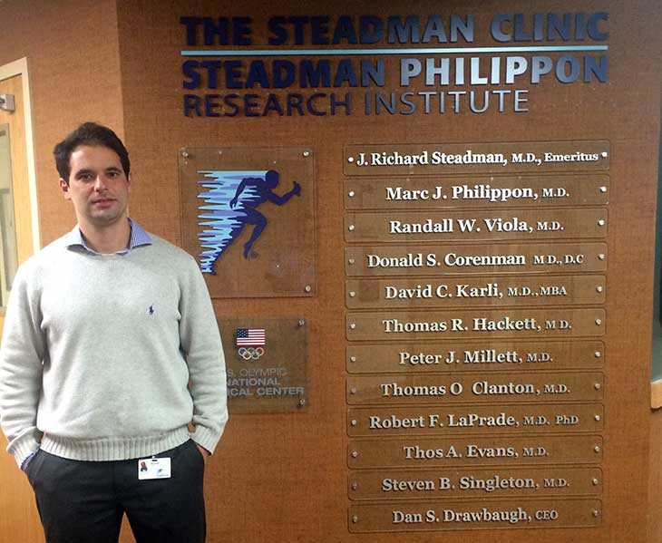 Dr Rodrigo Calil visitou The Steadman Clinic no Colorado